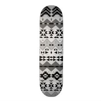 Black And White Aztec - Skateboard