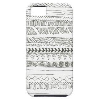 Black and White Aztec Tribal Print iPhone SE/5/5s Case
