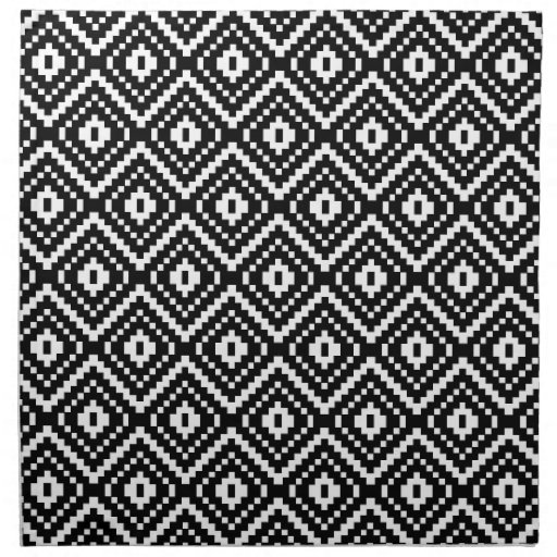 Black and White... Tribal Print Pattern Black And White