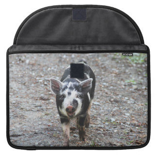 Black and White Baby Pig Sleeve For MacBook Pro