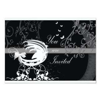 Black and white baby shower 1b card