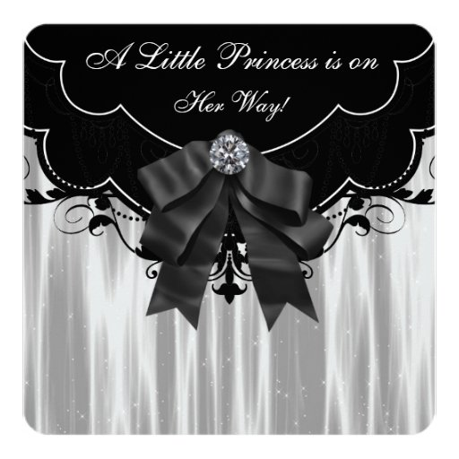 black and white baby shower card zazzle