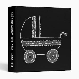 Black and White Baby Stroller. Binder