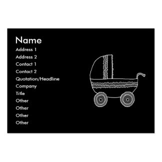 Black and White Baby Stroller. Business Card Template