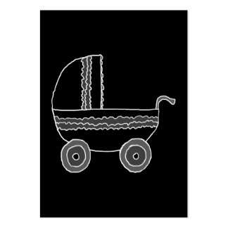 Black and White Baby Stroller. Business Card Templates