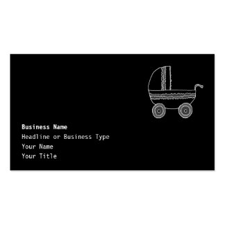 Black and White Baby Stroller. Business Card