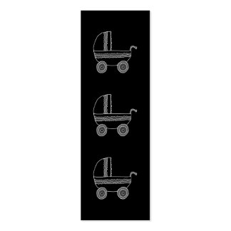 Black and White Baby Stroller. Mini Business Card