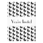 Black and White Baby Stroller Pattern. Cards