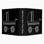Black and White Baby Stroller. Vinyl Binders