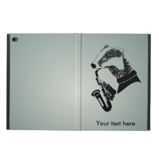 Black and White Badger Saxophone Personalized Powis iPad Air 2 Case