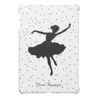 Black and White Ballerina iPad Mini Case