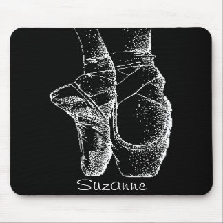 Black and White Ballet Shoes Mousepad