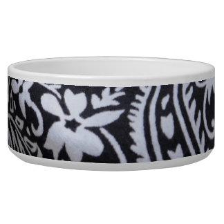 black and white bandana print dog bowl