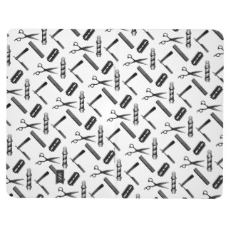 Black and White Barber's Pole Pattern Journal