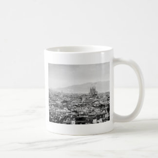 Black and White Barcelona Coffee Mug