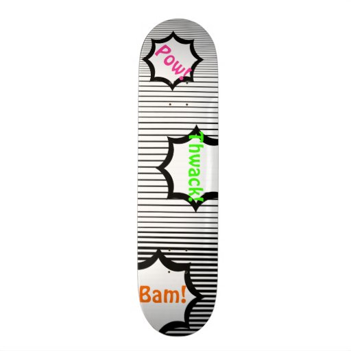 Black and White Barcode Pattern Customizable Deck Custom Skateboard