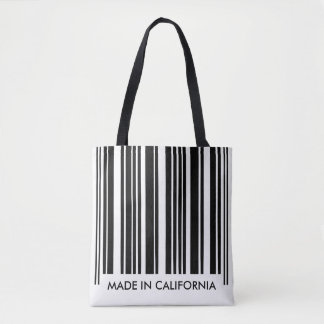 Black and White Barcode Stripes Creative Unique Tote Bag