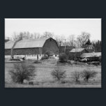 "Black and White Barn 7x5 Photographic Print<br><div class=""desc"">If your into barns,  this is a nice addition to your wall hangings</div>"