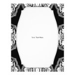 Black and White Baroque Style Pattern Flyer