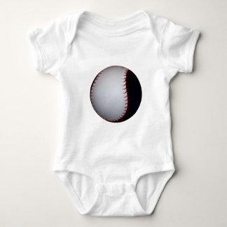 Black and White Baseball / Softball Baby Bodysuit