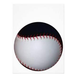 Black and White Baseball / Softball Custom Invite
