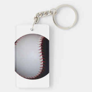 Black and White Baseball / Softball Keychain
