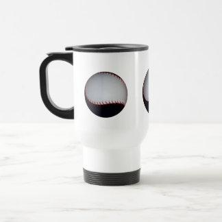 Black and White Baseball / Softball 15 Oz Stainless Steel Travel Mug