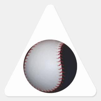 Black and White Baseball / Softball Triangle Sticker