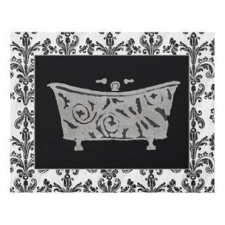Black and White Bathtub Panel Wall Art