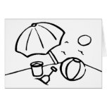 Black and White Beach Greeting Cards