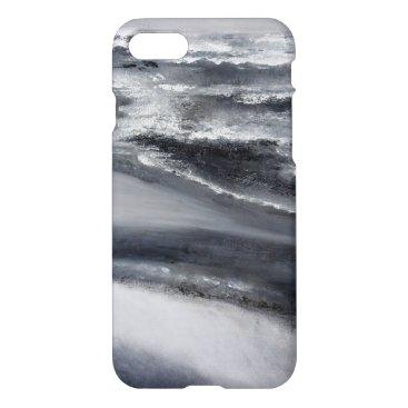 Beach Themed Black and White Beach iPhone 7 Case