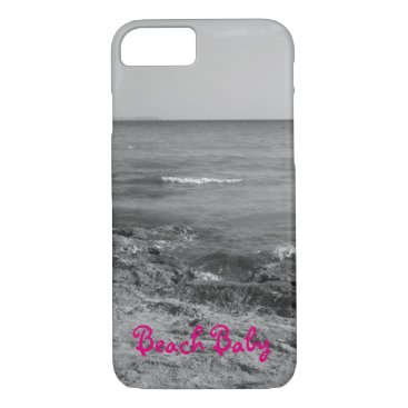 Beach Themed Black and White Beach iPhone 7 Case