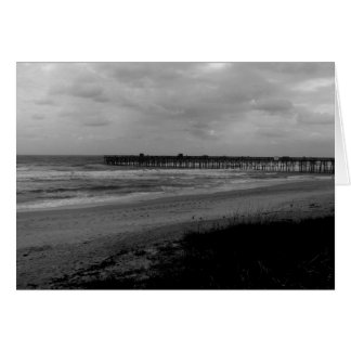 Black and White Beach Photography Cards