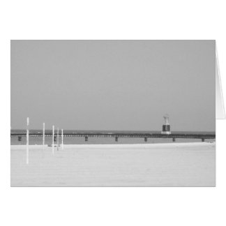 Black and White Beacon Light of Chicago Card