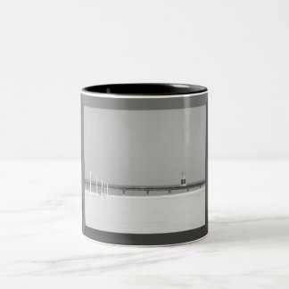 Black and White Beacon Light of Chicago Two-Tone Coffee Mug