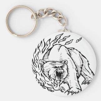 Black and white bear keychain