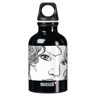 black and white beautiful girl on watter bottle SIGG traveler 0.3L water bottle