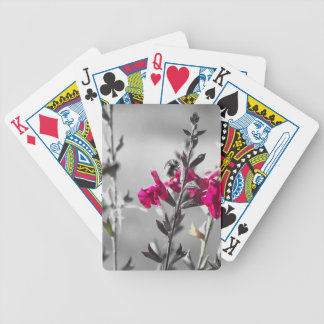 Black and White Bee Bicycle Playing Cards