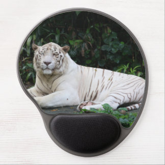 Black and White Bengal Tiger relaxed and smiling Gel Mouse Pad