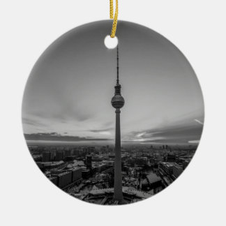 Black and White Berlin at Winter Ceramic Ornament