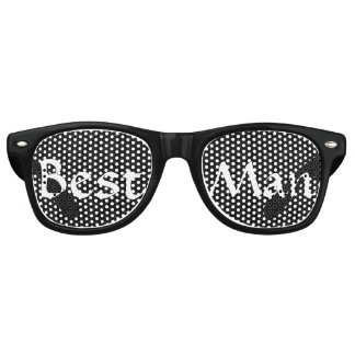 Black and White Best Man Fun Bachelor Party Retro Sunglasses