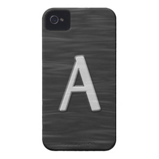 """Black and white beveled """"A"""" Case iPhone 4 Case-Mate Cases"""