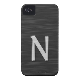 "Black and white beveled ""N"" Case"
