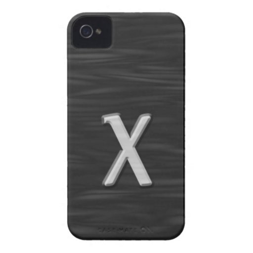 """Black and white beveled """"X"""" Case Case-Mate iPhone 4 Cases"""