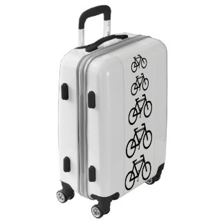 Black and White Bicycle Abstract Cycling Luggage