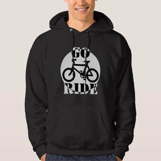 Black and White Bicycle Hoodie