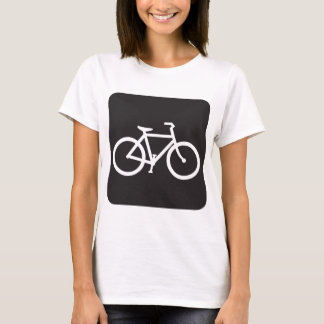 Black And White Bicycle Symbol Womens T-Shirt