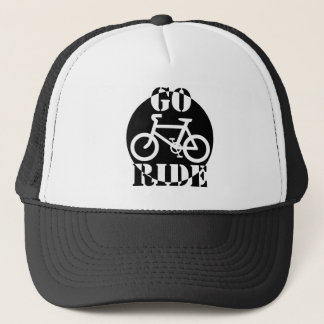 Black and White Bicycle Trucker Hat