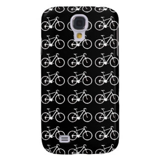 black and white bicycles patterning samsung galaxy s4 cover