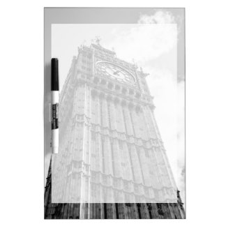 Black and White Big Ben Photograph, London Dry-Erase Whiteboards